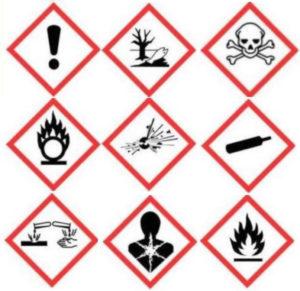 ohusümbolid - kemikaalid